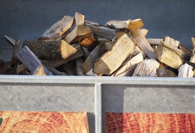 Gestort brandhout - 1m³ droog zachthout