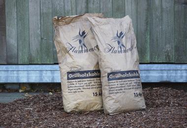 Houtskool zak 5 x 15 kg