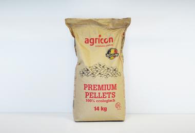 Houtpellets DIN +- 14 kg, papieren zak